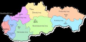Regiones (Kraj) de Eslovaquia