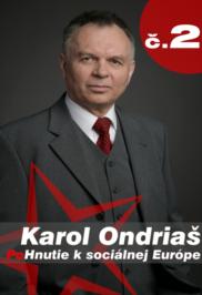 Cartel de Ondriaš para las Elecciones Europeas (de su página web: www.ondrias.sk)